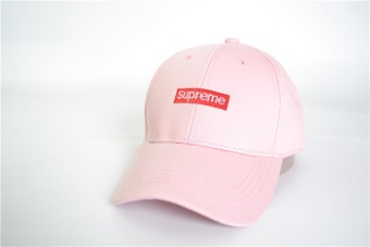 Supreme Embroidery Solid Color Baseball Cap Hats For Men Women Casual Hip Hop Caps(Pink) - intl