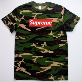 Supreme inspired Adult Camouflage T-Shirt