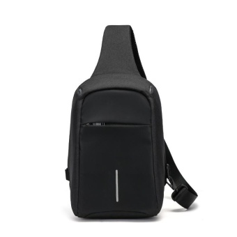 Sywell Casual Anti-theft Chest Bag Waterproof Crossbody Shoulder Bag for Travel - Black - intl