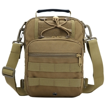 Tactical Travel Camo Nylon Shoulder Bag Backpack Sling Bags (Khaki)