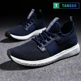 Tanggo 1979 Korean Fashion Sneakers Breathable Canvas Shoes for Men navy blue