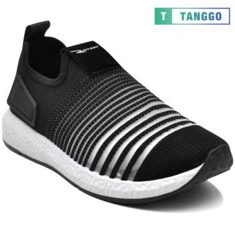 Tanggo F12 Fashion Sneakers Korean Mesh Shoes Light Breathable Slip-On for Men black