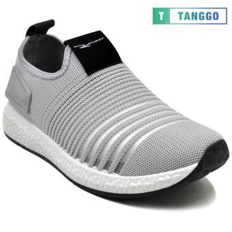 Tanggo F12 Fashion Sneakers Korean Mesh Shoes Light Breathable Slip-On for Men grey