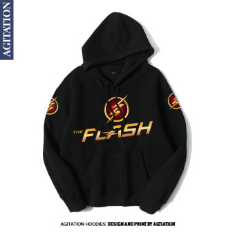 The Flash autumn New style hooded pullover hoodie Black 2