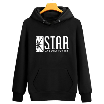 The Flash laboratory warm zip-up hooded jacket Wei Yi STAR Lab black