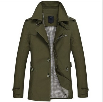 The man in the new autumn and winter long Windbreaker Jacket Mens Cotton Jacket - intl