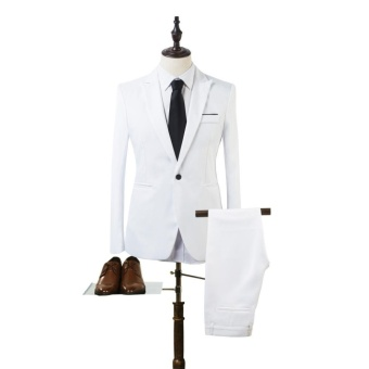 The new men's casual suit two suit white - intl