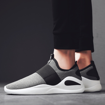 Thick bottomed low top Rubber shoes Sneakers mesh shoes Gray