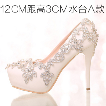 Thin heeled toast women's shoes crystal shoes (12cm with high 3cm water sets a Section) (12cm with high 3cm water sets a Section)