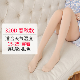 Thin prop belly summer stockings pregnant women's Silk socks (320D even foot Spring and Autumn-color)