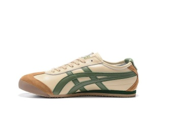 Tiger Loafer Shoes Men's Arthur Tiger Sports Shoes Running shoes MEXICO66 Shoes green beige - intl