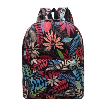 Toprate New Fashion Unisex PU Korean Women School Nylon Polyester Leather Style Backpack Bag Canvas Mini Casual Travel Shoulder Back Zip Backpack - intl