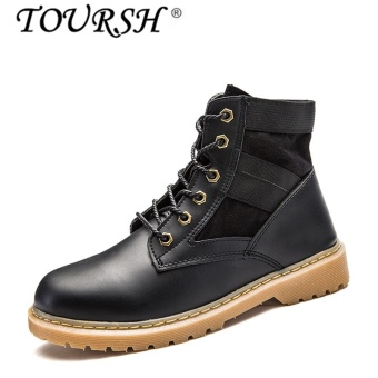 TOURSH Lovers Martin Boots The War Wolf Boots High-top black