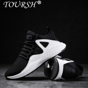 TOURSH Men Shoes Men Casual Shoes Breathable Lace up Flats Fashion Male Footwear Sneakers Sports Shoes Running Shoes