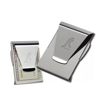 TP Newest Slim Steel Money Clip Double Sided Credit Card HolderWallet - intl