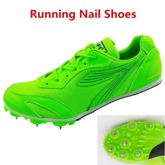 Trail Sports Running Nail Shoes for Men Spike Runing SpikesAthletics Sprint Spikes Male Female Nails Training Shoes SneakersGreen - intl