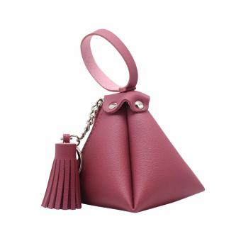 Triangle Tassel Pouch (Old Rose) Price Philippines