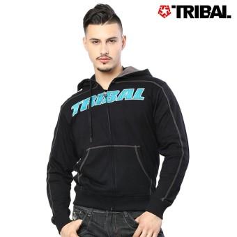 TRIBAL Berserk Trucker Men's Hoodie Jacket Black/Charcoal