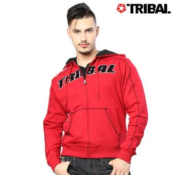 TRIBAL Berserk Trucker Men's Hoodie Jacket Red/Black
