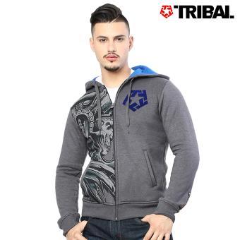 TRIBAL Falcor Trucker Men's Hoodie Jacket Acid Black/Blue Ocean