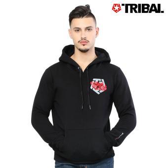 TRIBAL Japajak Trucker Men's Hoodie Jacket Black/Diamond