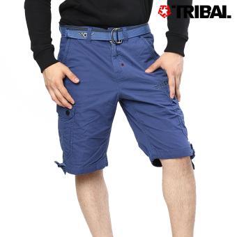 TRIBAL Men's Cargo Shorts Blue