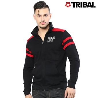 TRIBAL Motorcyle Trucker Men's Hoodie Jacket Black/Red