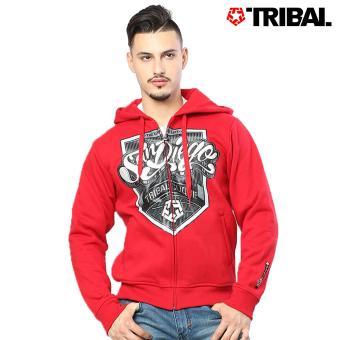 TRIBAL San Diego Culture Trucker Men's Hoodie Jacket Tribal Red