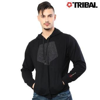 TRIBAL XHatch Pullover Trucker Men's Hoodie Jacket Black Diamond
