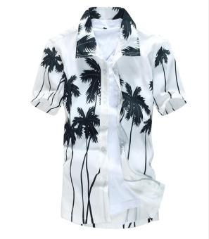 TS Hawaiian vacation short - sleeve beach shirt suit - intl