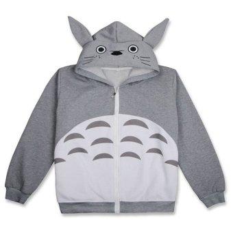 Ufosuit Hot Anime Totoro Gray Jacket Casual Style for Men/Women - intl