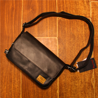 Ulzzang Japan and South Korea men's shoulder messenger bag (Black)