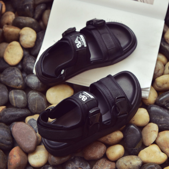 Ulzzang New style for men and women sandals Black