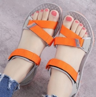 Ulzzang Shishang New style summer student sandals Korean-style sandals (Orange)