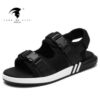 Ulzzang versatile Plus-sized men trendy shoes for men and women sandals