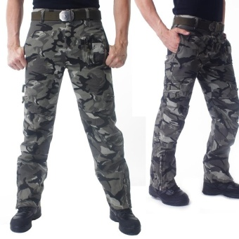 UNION ARMY Multi-Pocket Slim Fit Pants Tactics Military Camouflage Pants Men Trousers Cargo pants - intl