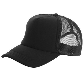 Unisex Adjustable Casual Sport Baseball Breathable Blank Mesh SunProtection Trucker Hat Peaked Hat Cap Black (Intl) Price Philippines