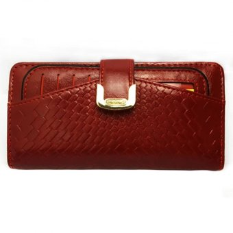 Unisex Long Wallet (Deep Red) Price Philippines