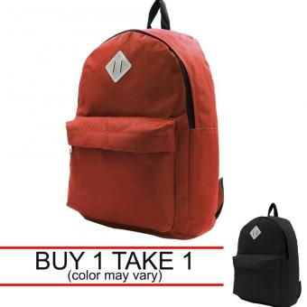 Urban Hikers Lash Tab Casual Backpack (Plain Red) Buy 1 Take 1(color may vary) Price Philippines