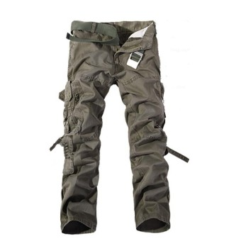 US STOCK Men Casual Military Army CARGO CAMO Combat Work Pants Straight Trousers Green - intl