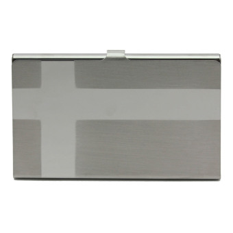 Vanker 2pc Stylish Business Card Holder ID Name Credit Pocket Wallet Stainless Steel Case(B)