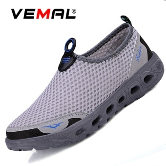 VEMAL Fashion Women Mesh Breathable Casual Shoes Slip-Ons & Loafers Sneakers Light Grey -