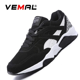 VEMAL Men's Casual Breathable Lightly Sports Shoe Athletic Lace Up Fashion Sneakers Black - intl