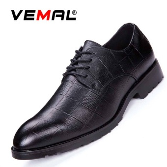 VEMAL Men's Oxford Dress Shoes for Men Formal Leather Shoes Casual Classic Mens Shoes Black - intl