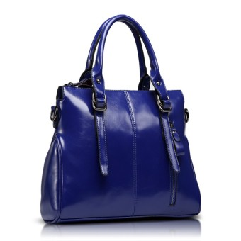 Versitile fashion female handbag women's bag (Blue to send carrying wallet + card holder)