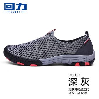 Warrior slip loafers sandals WL-3303 dark gray
