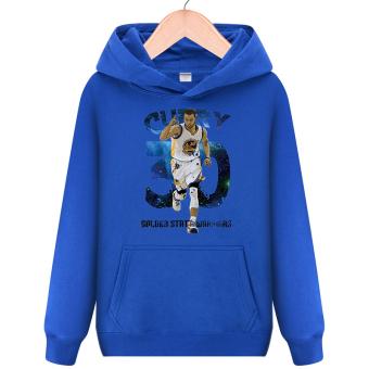 The warriors basketball jerseys hooded students hoodies shirt 3D curry blue 3D curry blue