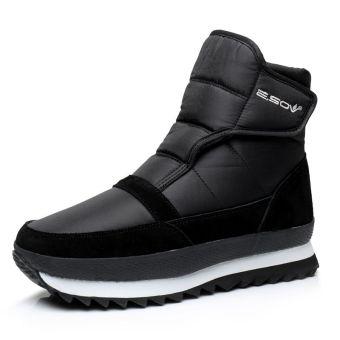 Waterproof non-slip low tube men shoes short boots Black Men Shoes Boots Ankle Boots
