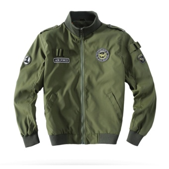 Weargen High Quality Ma1 Army Green Tactical Military varsity Flight Windbreaker Pilot US Air Force Bomber Jacket for Men Clothes 520-Army Green - intl