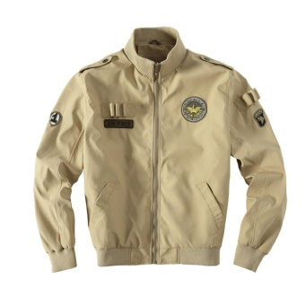 Weargen High Quality Ma1 Army Green Tactical Military varsity Flight Windbreaker Pilot US Air Force Bomber Jacket for Men Clothes 520-Khaki - intl